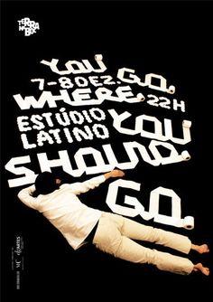 """Sergio Alves (Atelier d'alves) – You Go, poster for the company """"Terra na Boca"""", via Behance"""