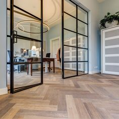 Grey Wood Floors, Wooden Flooring, Living Spaces, Living Room, Bungalow, New Homes, Sweet Home, Room Decor, Interior Design