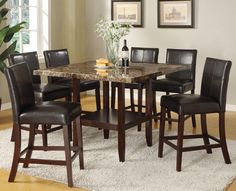 Idris 7 Piece Counter Height Dining Set by Acme Furniture want this for my dining room