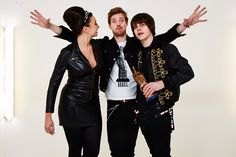 """""""Here's an unlikely new supergroup: Ricky Wilson from Kaiser Chiefs, Jake Bugg and celebrity chef Gizzi Erskine. Ricky and Gizzi actually presented Jake with the Best Solo Artist prize. Ricky Wilson, Brixton Academy, Kaiser Chiefs, Jake Bugg, Speed Of Sound, Kick Backs, Green Rooms, Austin Texas, Backstage"""
