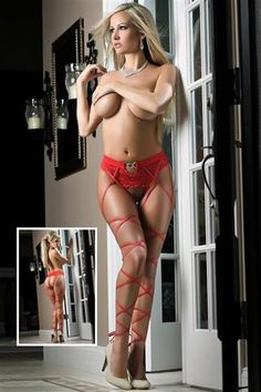 valentin hotti, attach leg, sexi red, instict panti, crotchless thong