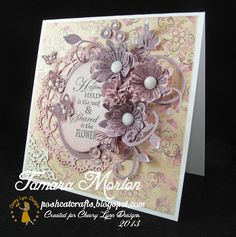 My project this week is again a card, but I decided to use a sentiment stamp instead of a figure. #cheeryld #poshcatcrafts Dies used: Fanciful Flourish - B117; Flourish Leaf Strip - B178; Cutie Fringe IV - B258; Embellishments # 3 - B265; Oval Classic - Silver Stackers - L-7; Mini Dimensional Butterflies w Angel Wings - D138; Ankara Lace Doily with angel Wing - DL232 http://www.cheerylynndesigns.com