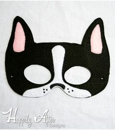 Boston Terrier Mask ITH Embroidery Design