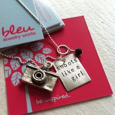 adorn512-Handstamped Jewelry - Personalized Mother Jewelry — Shoots like a girl handstamped necklace