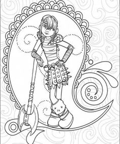 Dragons coloring page 4
