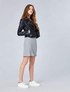 FIND Kleid Damen Gerippt mit Rundem Ausschnitt  Amazon.de  Bekleidung  damen    c044548510