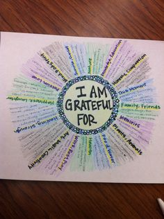 Thanksgiving or other study of gratitude.--Mandala of Gratitide- Great art therapy idea. Counseling Activities, Art Therapy Activities, Group Activities, Activities For Teens, Health Activities, Group Counseling, Therapy Tools, Play Therapy, Therapy Ideas