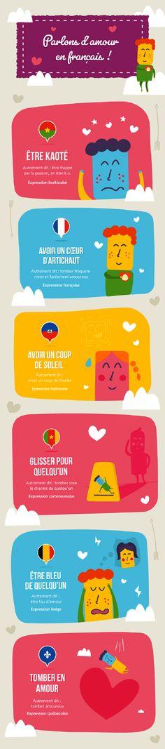 Expressions francophones d'amour
