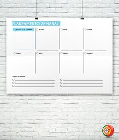 Modelo de planeamento semanal para impressão Planners, Study Inspiration, Download, Dyi, Journaling, Bullet, Scrap, Weekly Planner, Daily Planning