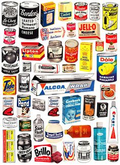 Sushipot - Assemblage & Collage Art by Suzanna Scott: 1950's Grocery Snippets