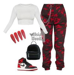 Swag Outfits For Girls, Cute Swag Outfits, Teenage Girl Outfits, Girls Fashion Clothes, Cute Comfy Outfits, Teen Fashion Outfits, Teenager Outfits, Edgy Outfits, Retro Outfits