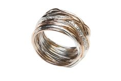 Rose Gold, Silver and white brilliants $1110