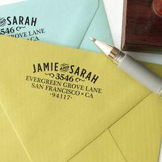 Woodtype Address Stamp