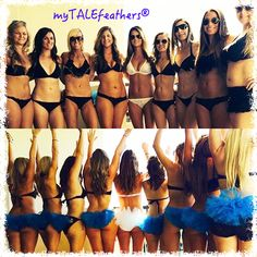 Fun in the Sun! Group Bling Bikini Veils by myTALEfeathers®
