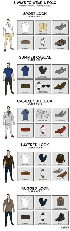 5 Ways To Wear A Polo Infographic.  https://www.realmenrealstyle.com/5-ways-t...