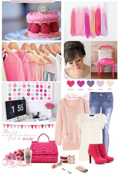 """""""Fucsia"""" by lovelypao ❤ liked on Polyvore"""