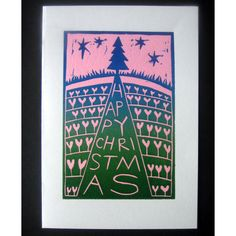 Christmas Card - Tree (Linocut)