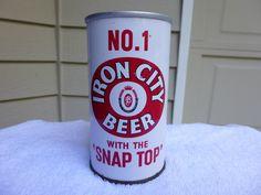 Nice Iron City Zip Flat Pull Top Beer Can