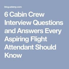 Cabin attendant interview slut load