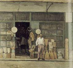 «Παντοπωλείο στα Γιάννενα» (1968, λάδι σε μουσαμά)του Κώστα Μαλάμου