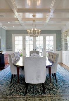 hello lovely inc.: WINDSOR SMITH: 10 Lovely Hellos Coffered ceiling for great room