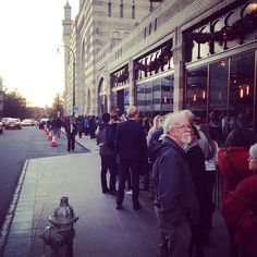 In line for #bernie2016 rally in #Atlanta. Why not... #election2016 #feelthebern #democrats #aarsbl15