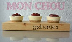 Mon Chou gebakjes - Simple Thoughts Recipies, Deserts, Ice Cream, Place Card Holders, Sweets, Thoughts, Simple, Breakfast, Cookies