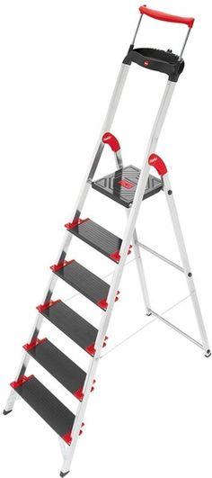 Hailo XXR 225 ChampionsLine 6 Tread Extra Deep Step Ladder  heavy-duty home