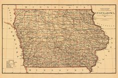 Des Moines map Old map print Map of Des Moines fine reproduction