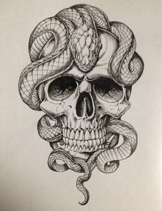 snake tattoo flash - Google Search