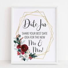 Give the bride and groom a keepsake they'll cherish for years to come by having guests fill up a date jar with their best date night ideas!