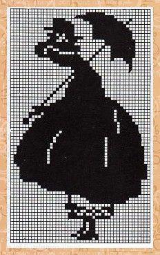 Gallery.ru / Фото #102 - 13 - unito C2c Crochet, Filet Crochet, Chart Design, White Crosses, Woman Silhouette, Monochrom, One Color, Cross Stitching, Love Bugs