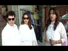 Madhuri Dixit and Juhi Chwala attend music composer Aadesh Shrivastava's CHAUTHA.