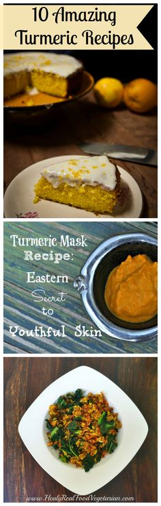 10 Amazing Turmeric Recipes @ Healy Real Food Vegetarian #turmeric #turmericrecipes
