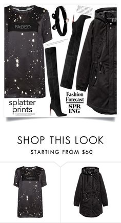 """Splatter Prints"" by dolly-valkyrie ❤ liked on Polyvore featuring Alexander Wang, H&M, GET LOST, Aamaya by Priyanka and paintiton"