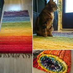 Rainbow carpet.