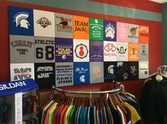 T-shirt display wall More