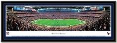 Poster of Reliant Stadium, Home of the Houston Texans NFL football team panoramic framed picture #Football #Stadiums