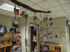 """Beautiful way to display photos - at Steikkjaras preschool in Iceland, image shared by Learning for Life ("""",)"""