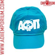 ALPHA OMICRON PI TEAL PANDA AOII HAT! SPRING 2013 SHOP BOX EXCLUSIVE