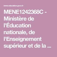 MENE1242368C - Ministère de l'Éducation nationale, de l'Enseignement supérieur et de la Recherche