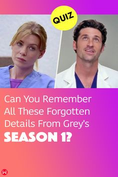 Take this Grey's Anatomy quiz which tests you on all the forgotten details from Grey's Anatomy Season 1! How high can you score? #merder #shondaland #greysseason1 #greysanatomy #greysQuiz #meredithGrey #greysAnatomyintern #lovegreysanatomy #greysAnatomyQuizzes