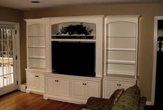 Built-In Wall Unit For Widescreen Tv In Tradiitonal Style