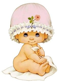 Baby Girl by Ruth Morehead. Clipart Baby, Baby Pictures, Cute Pictures, Sarah Kay, Baby Album, Holly Hobbie, Cute Images, Baby Cards, Vintage Children