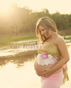 Maternity sash and photo