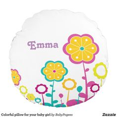 Colorful pillow for your baby girl
