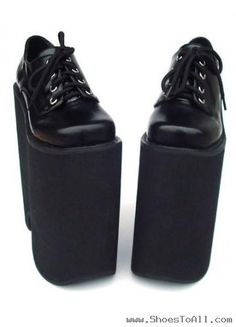 8.7'' High Heel Black PU Lolita Pumps .... I mean WTF? i would trip anyone who wore these. these are disgusting, pointless and a waste of material and just deserve to be burned along with whoever is wearing them at the time. #nomercy #noexcuses #noexplanation