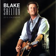 """Blake Shelton Wall Calendar: Blake Shelton is the reigning CMA Male Vocalist of the Year, a celebrity coach on NBC's hit series """"The Voice."""" Shelton may admittedly be a reformed country bad boy but his songs about country life read true to all music lovers.  http://www.calendars.com/Country-Music/Blake-Shelton-2013-Wall-Calendar/prod201300004372/?categoryId=cat00084=cat00084"""