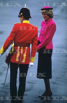 1985 October 18, Princess Diana visiting The Royal Hampshire Regiment in West Berlin, Germany.