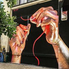 Street art Queens, Long Island, New York Murals Street Art, 3d Street Art, Street Art Graffiti, Street Artists, Amazing Street Art, Amazing Art, Banksy, Urban Graffiti, Sidewalk Chalk Art